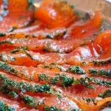 Saumon à l'aneth mariné